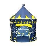 Lalia Spielzelt rund für Mädchen oder Jungen, 135cm hoch. Burg Turm für Prinzen, Pop up Super einfach und schnell auf- und abbauen. Das perfekte Geschenk Schloss Spielhaus Zelt