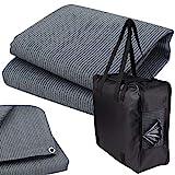 Vorzeltteppich + 6 Heringe + Tasche - 250x400 GRAU-BLAU - Zeltteppich Zeltunterlage Outdoor Camping Vorzelt Campingteppich Vorzeltboden