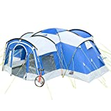 Skandika Familienzelt Nimbus für 8 Personen | Campingzelt mit 3 Schlafkabinen, wasserdicht, 5000 mm Wassersäule, 2,15 m Stehhöhe, versetzbare Frontwand, großer Wohnraum