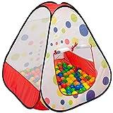 LittleTom Bällebad Spielzelt 90x90x90cm - Popup Baby Spielhaus Kinder-Zelt Punkte