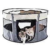 PAWZ Road Welpenauslauf Katzenlaufstall Welpenlaufstall Tierlaufstall Freilaufgehege Katzenzelt Hundelaufstall faltbar für Innen und Araußen