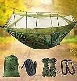 Idefair Hängematte mit Moskitonetz, Doppel-Camping-Hängematten Insektennetz wasserdicht tragbar und leicht für Rucksackreisen Wandern Reisen Outdoor