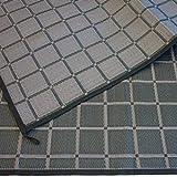 Zeltteppich ´´´odooro WAVETEX Square 2,7m x 2m schwarz-grau *** 400 g/m² Outdoor Teppich Vorzelt Teppich Garten Spieldecke