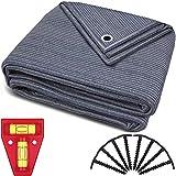 smartpeas Vorzeltteppich 300x600cm – Teppich blau/grau aus Polyethylen (HDPE) mit Edelstahl-Ösen robust & waschbar